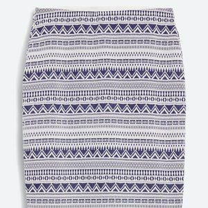 RD Style Adele Printed Pencil Skirt, Navy & Wht, L